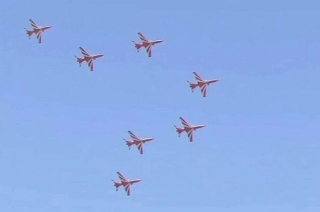 Surya Kiran Aerobatic team flies for first time after crash