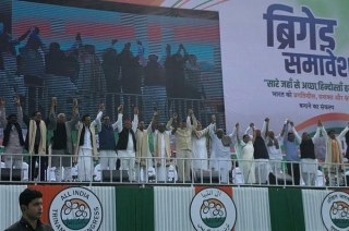 At United India Rally, Opposition parties vow to oust Modi government
