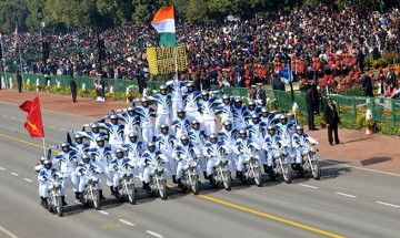 In Pics: Indian Army's Daredevils perform stunts on 70th Republic Day