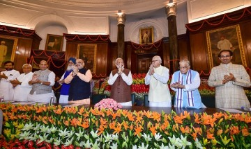 In Pictures: After resounding victory, top NDA leaders meet to re-elect Prime Minister Modi