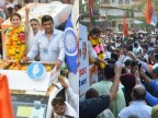 Lok Sabha Elections: Urmila Matondkar proves her star power in mega road show in Mumbai