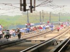 Delhi Metro commuters take to tracks as Yellow Line services snapped between Sultanpur and Qutub Minar