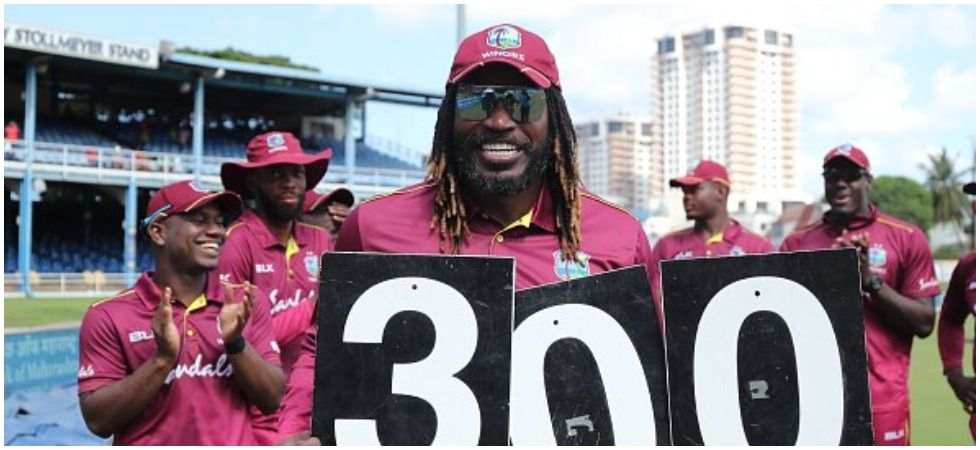 Chris Gayle broke Brian Lara's record tally of runs for West Indies in ODIs to become the leading run-getter for the Caribbean in the limited overs format. (Image credit: Twitter)
