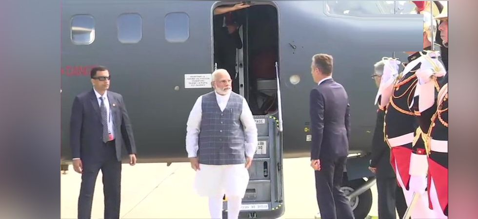 Prime Minister Narendra Modi arrives in France's Biarritz for G7 Summit