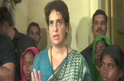 Priyanka Gandhi ends dharna after meeting kin of Sonbhadra victims, announces compensation