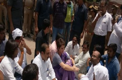 Section 144 imposed in Sonbhadra, Priyanka Gandhi sits on dharna over law and order situation in UP