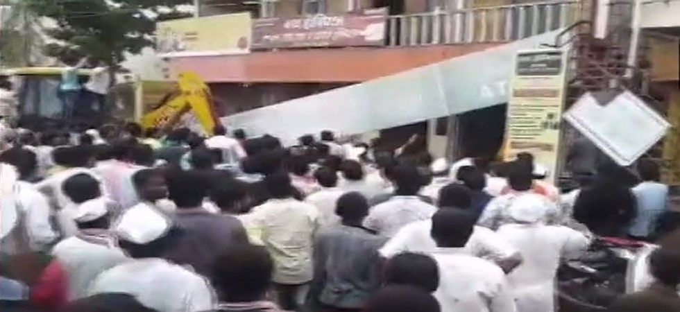 Most of the injured people are reportedly employees of the bank. (Image Credit: ANI)