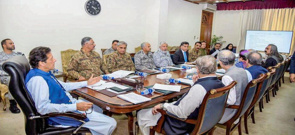 Pakistan PM Imran Khan during a meeting with NSC (Photo Source: PTI)