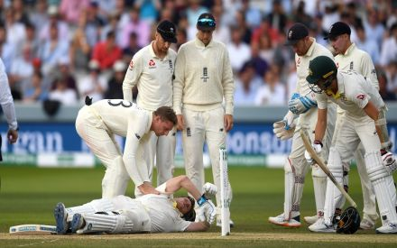 Steve Smith withdrawn from Lord's Ashes Test after being hit by Jofra Archer bouncer