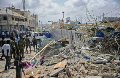 26 dead, 56 injured in suicide bomb and gun attack on Somalia hotel