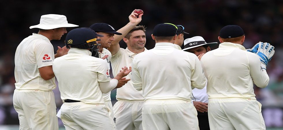 Chris Woakes was the star with 6/17 as Ireland were bowled out for 38, the seventh-lowest total in Test history. (Image credit: Getty Images)